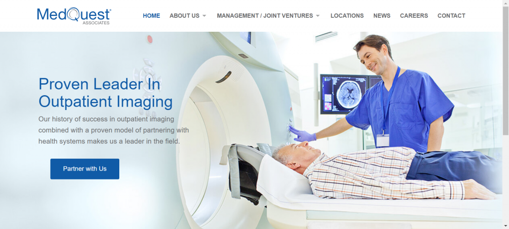 an eye catching button for a radiology group website